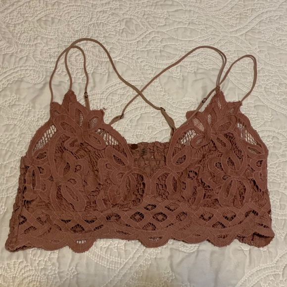 Free People Other - Free People Blush Lace Bralette